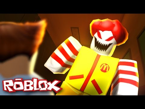 Roblox Adventures / Escape the Fast Food Restaurant Obby / Escaping Evil Ronald the Clown!