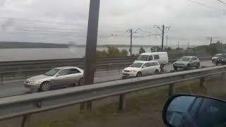 Трасса Р-256 стоит в пробке в Бердске