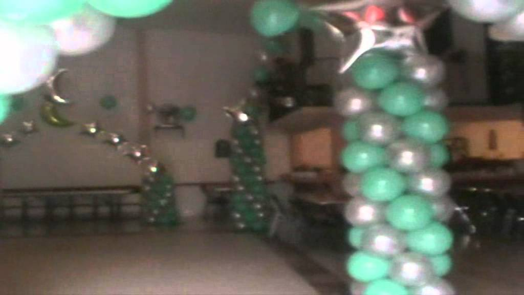 Decoracion con globos para xv a os wmv youtube for Arreglos de salon con globos