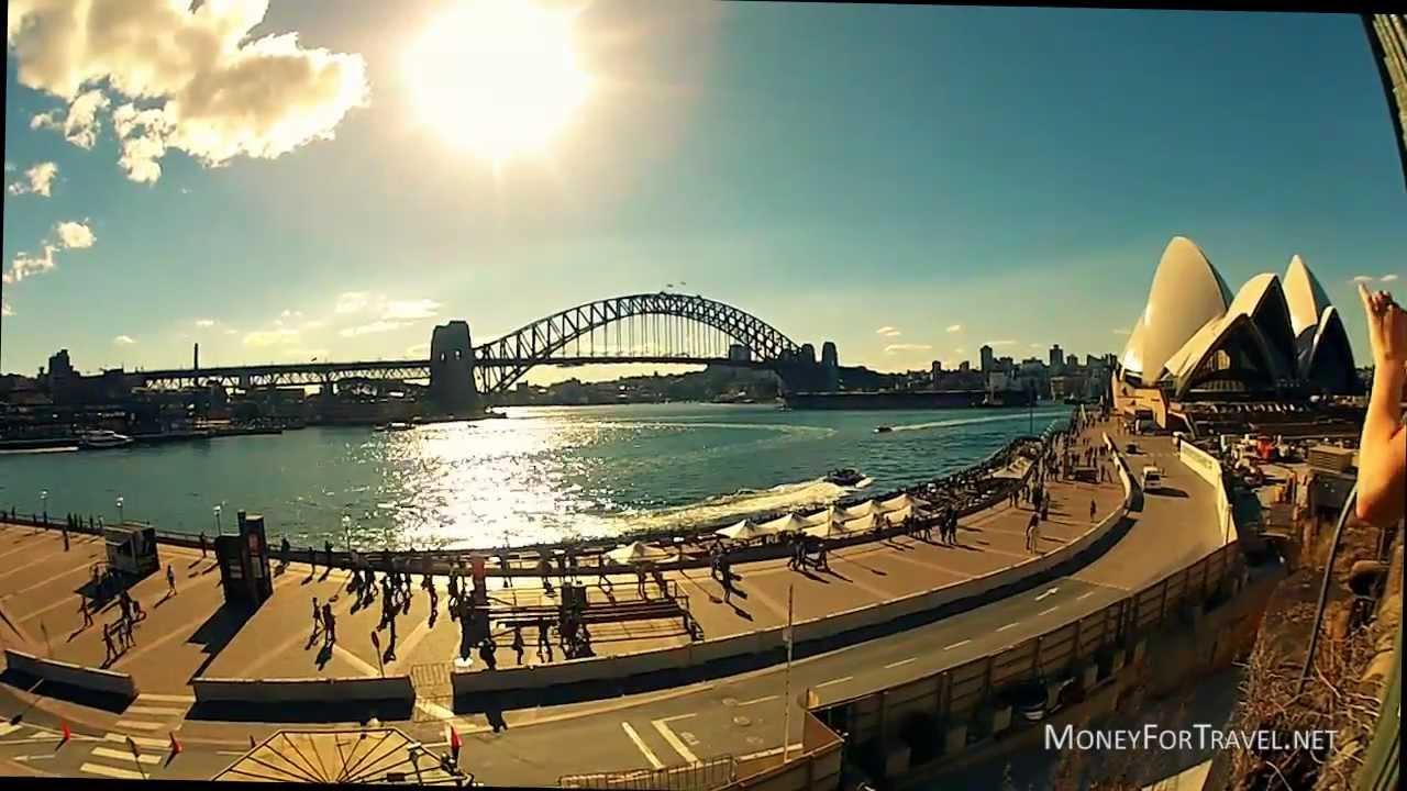 Sydney opera house and harbour bridge - Sydney Opera House Harbour Bridge And Farm Cove In Hd Gopro Hero2