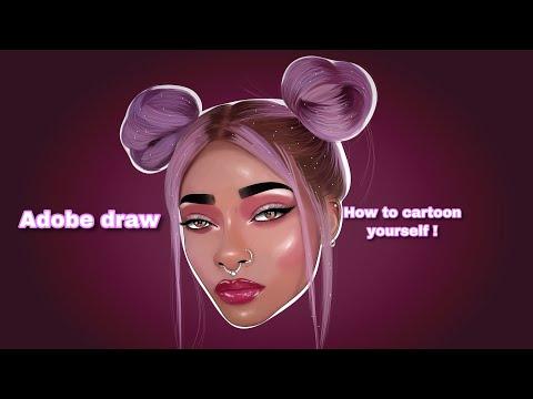 Adobe Draw | How To Cartoon Yourself !
