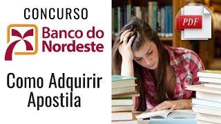 Download Apostila Concurso Banco do Nordeste - BNB 2018
