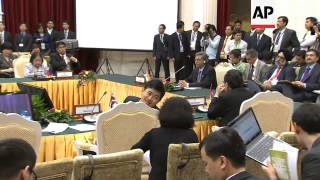 Bilateral meetings on the third day of the ASEAN FMs' meeting