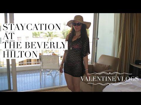 Staycation at The Beverly Hilton // Valentine Vlogs