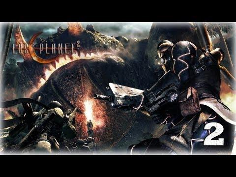 Смотреть прохождение игры [Coop] Lost Planet 2. Серия 2 - Гигантская тварь.