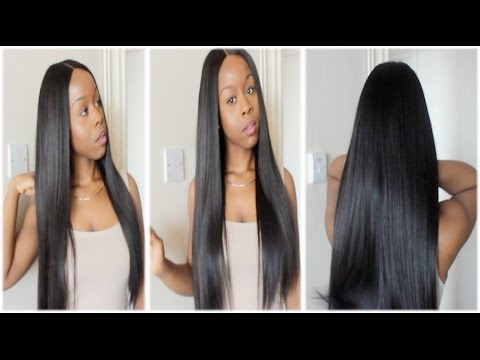 Easy/Beginner Lace Closure Wig Tutorial | (No Glue, No Elastic Band or Clips, No Hair Out)