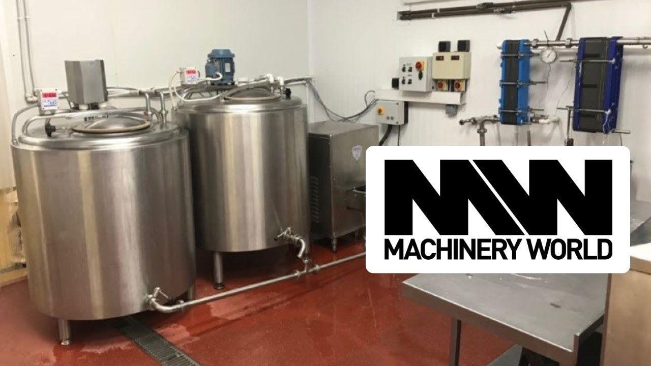 FIC / Crepaco 600 Litre Ice Cream Mix Processing / Pasteurisation Plant