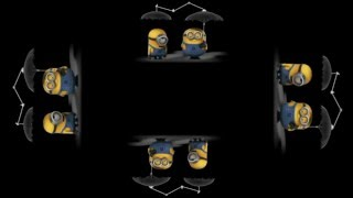 Minions Chicken Chase, Holographic Animation For Use With HoloQuad Pyramid Hologram MMD
