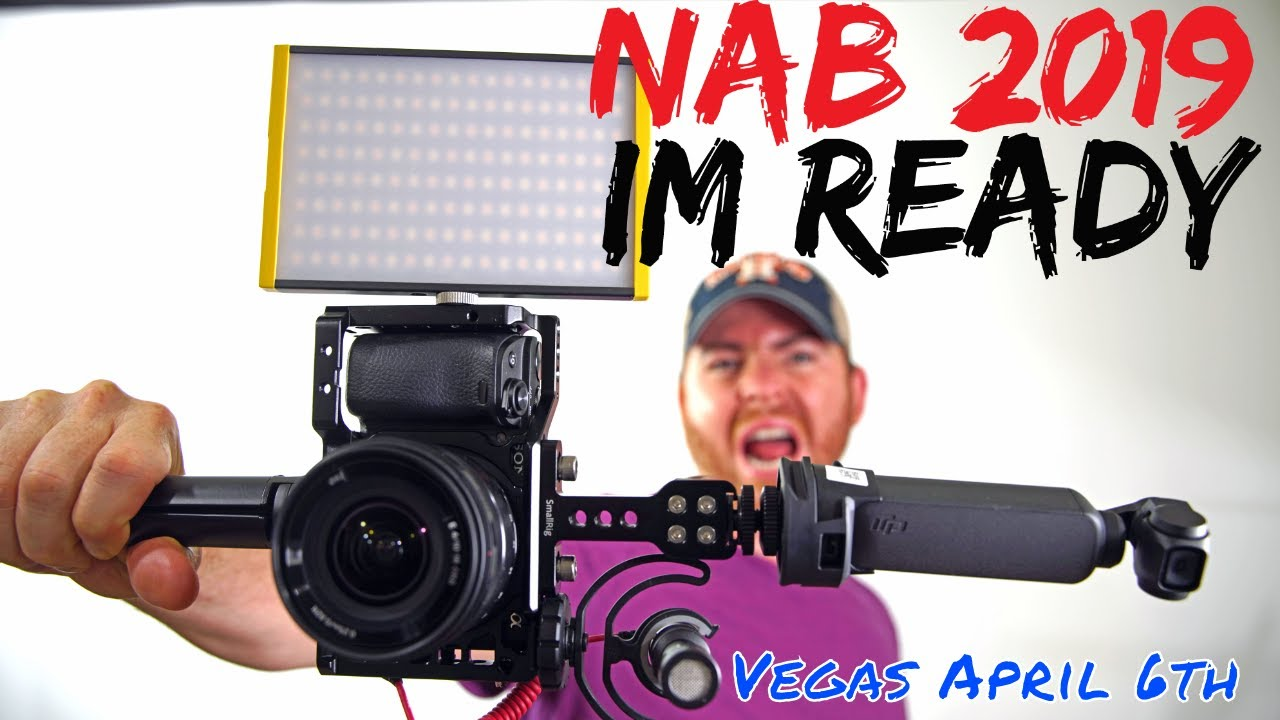 My Crazy NAB 2019 Camera Rig | Osmo Pocket vs Sony A6400 Day 1