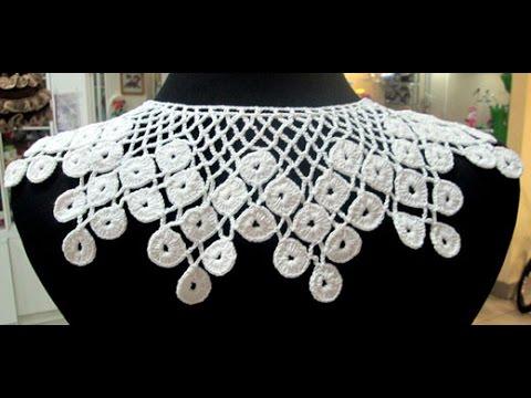 как связать воротник крючком варианты работ 2019 How To Knit