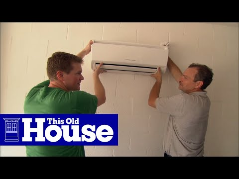 How to Install a Ductless Mini-Split Air Conditioner - This