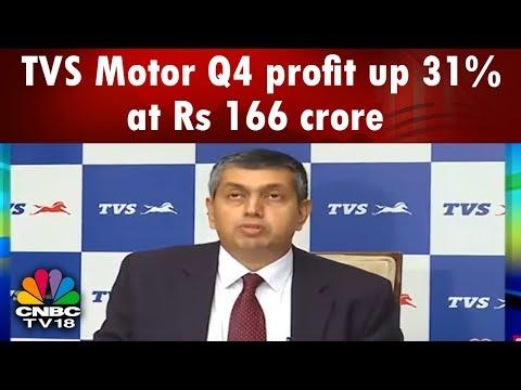 TVS Motor Q4 profit up 31% at Rs 166 crore | CNBC TV18
