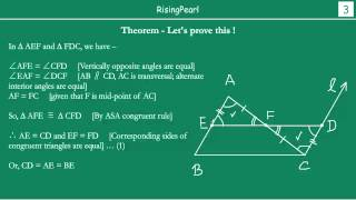Mid-point theorem and Proof