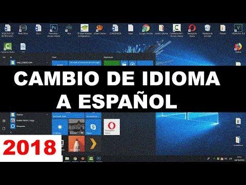 Como Cambiar El Idioma En Windows 10 (de Ingles A Español)