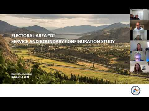 RDOS Area D Service and Boundary Configuration Study Committee meeting of October 13 2021