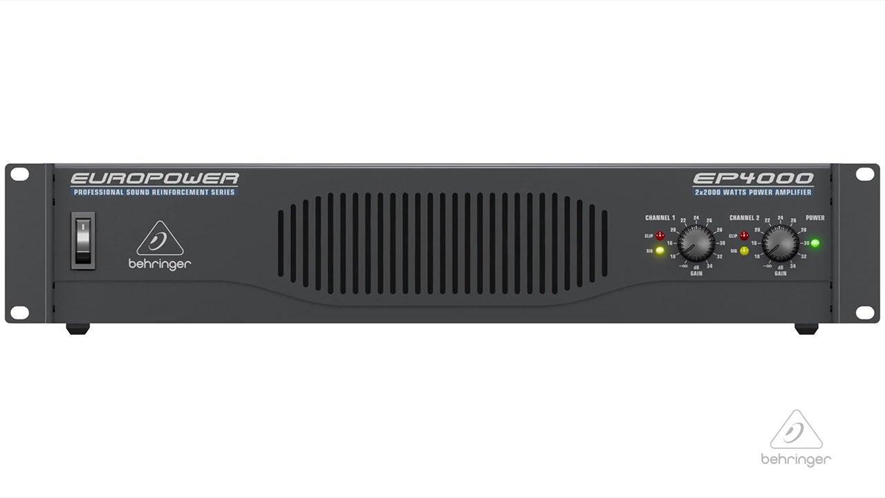 EP4000 EUROPOWER Power Amp