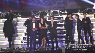 [掌心witheunhae] 120119 Seoul Music Awards - Super Junior won Daesang + Encore (Eunhae moments)