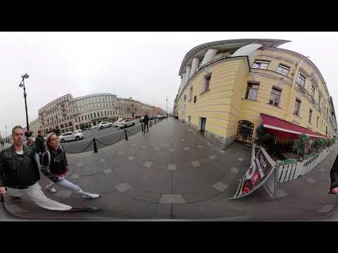Прогулка по Невскому проспекту Часть 1 снятая на камеру 360 градусов.