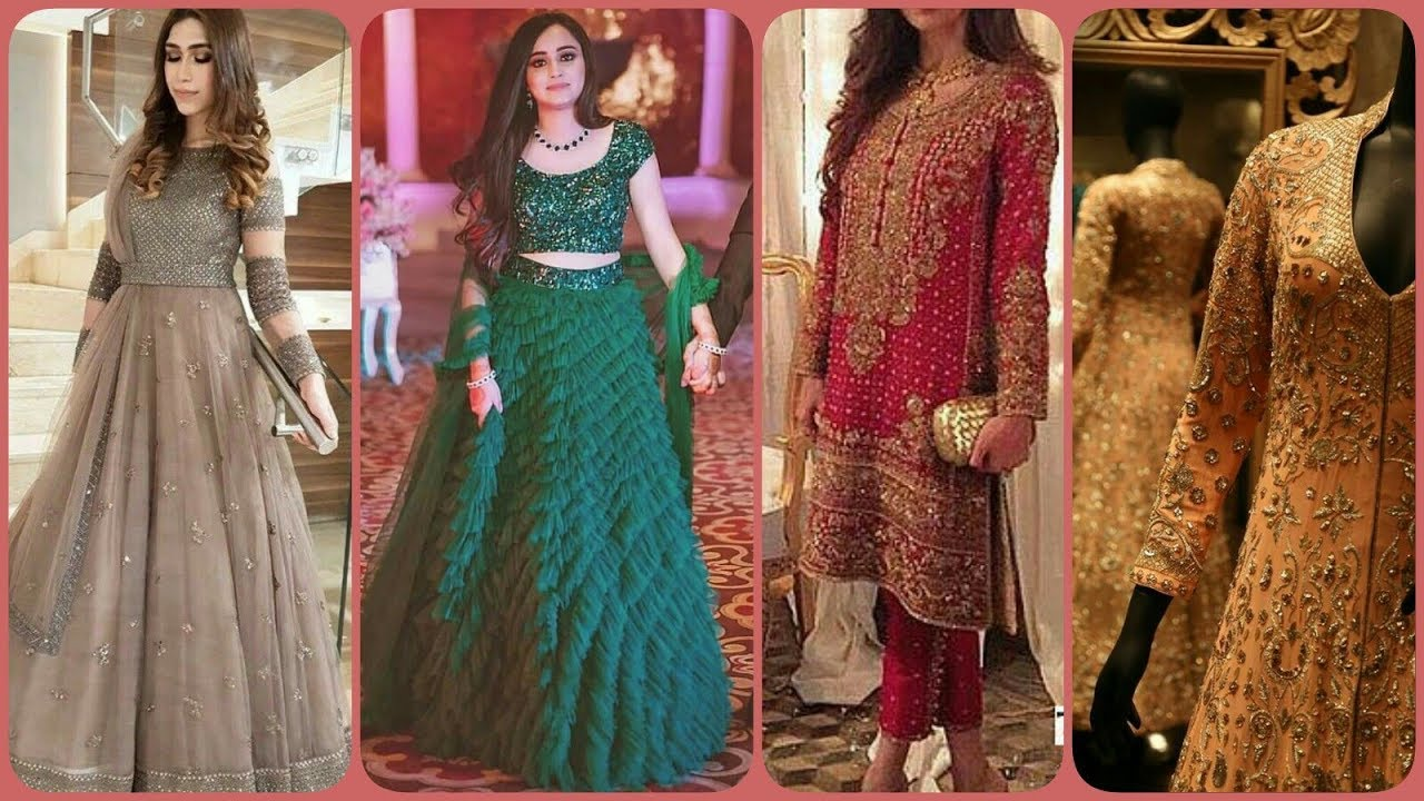 Latest Stylish Trendy Party Wear Wedding Dresses For Girls Women S 2019 20 Youtube,How Much Do Gypsy Wedding Dresses Cost