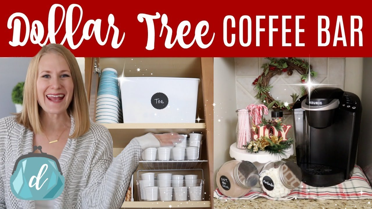 Utube 2020 Christmas Coffee Cicoa Bar DOLLAR TREE KITCHEN ORGANIZATION ☕️🎄 Coffee Station & Hot Cocoa