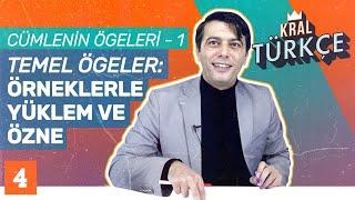 Cümlenin Ögeleri - Temel Ögeler Özne ve Yüklem Konu Anlatımı  Mustafa Kara ile 8. Sınıf Türkçe 4