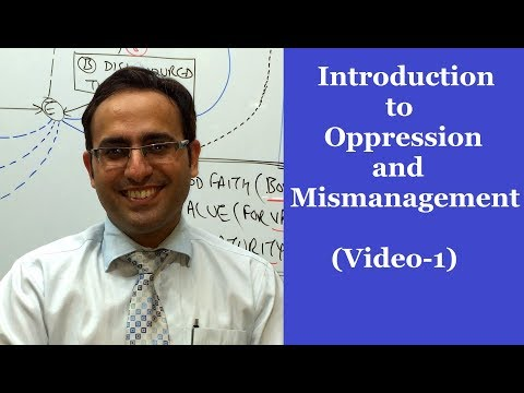 Introduction to Oppression & Mismanagement (Majority & Minority Rule)-Video-1