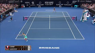 Cornet vs Sasnovich Match Highlights (QF) | Brisbane International 2018
