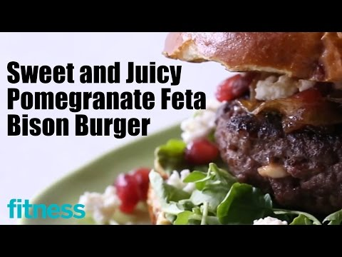 Sweet and Juicy Pomegranate Feta Bison Burger | Fitness