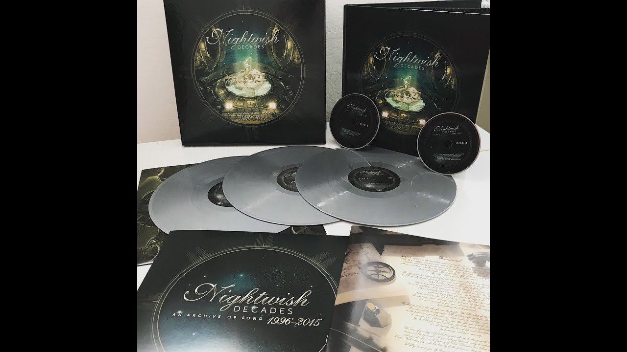 NIGHTWISH - DECADES // EARBOOK & SILVER LP BOXSET unboxing