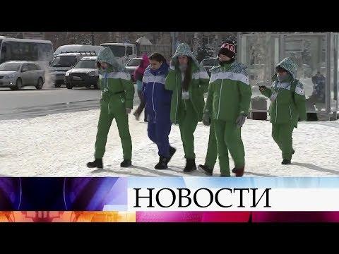 На международных играх «Дети Азии» в смешанной лыжной эстафете победу одержала сборная Москвы.