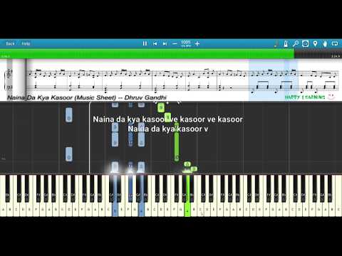 naina-da-kya-kasoor-(andhadhun)-||-piano-tutorial-+-music-sheet-+-midi-with-lyrics