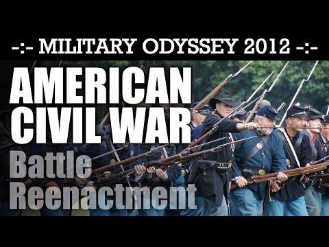 American Civil War Battle Reenactment! EPIC! Military Odyssey 2012 ACW   HD Video