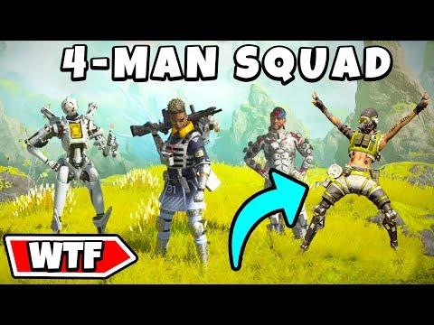 *NEW* 4 MAN SQUAD!?! - NEW Apex Legends Funny & Epic Moments #184