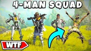 *NEW* 4 MAN SQUAD!?! - NEW Apex Legends Funny & Epic Moments #184