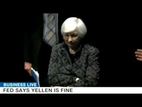 Federal Reserve Chair Janet Yellen Gets Medical Attention After Struggling To Finish Speech