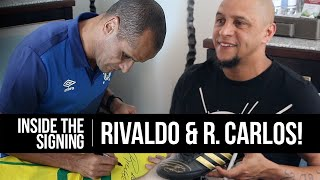 Two Legends, One Signing! Brazilian heroes Roberto Carlos and Rivaldo sign for Icons!