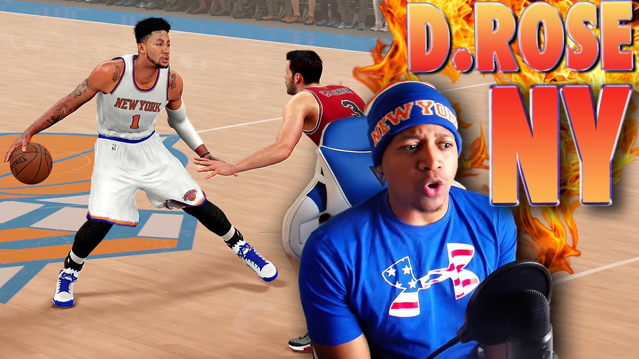 df8d27a4f489 DERRICK ROSE Traded to the New York KNICKS - NBA 2K16 Gameplay - YouTube