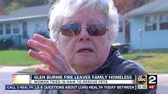 Glen Burnie fire leaves family homeless