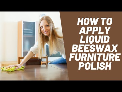 How to clean & wax wood furniture with AFC Quick Polish Liquid Beeswax Furniture Polish
