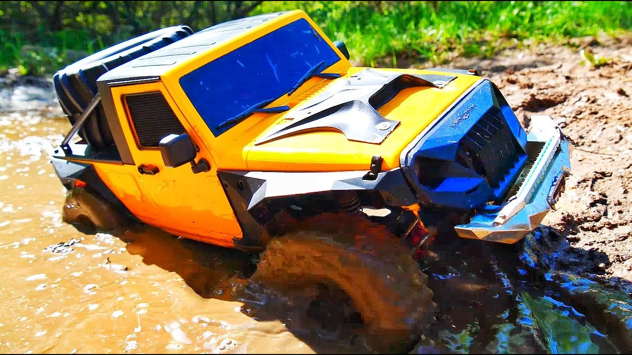 RC CARS OFF ROAD Extreme MUD Challenge Jeep Rubicon