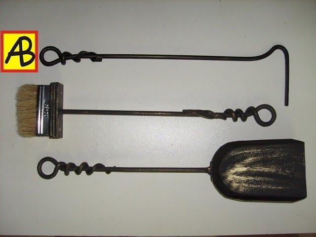 Каминный набор и художественная ковка металла