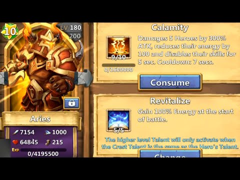 Castle Clash - Evolve Aries & 10 Star Him Right Away