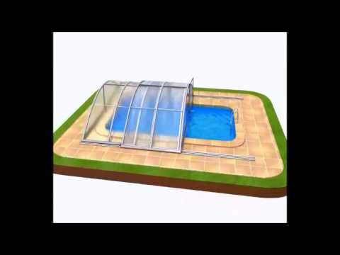 klasik pro schwimmbad berdachung pool express 3d animation youtube. Black Bedroom Furniture Sets. Home Design Ideas