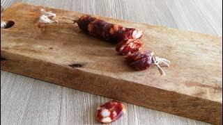 SALSICCIA SECCA CALABRESE fatta in casa metodo tradizionale