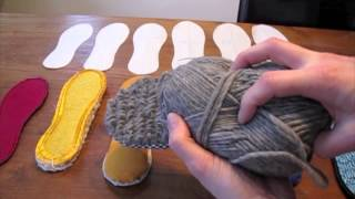 making shoe soles part 3 fabric wrapped and crocheted soles
