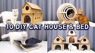 10 Amazing DIY Cat House & Bed #3
