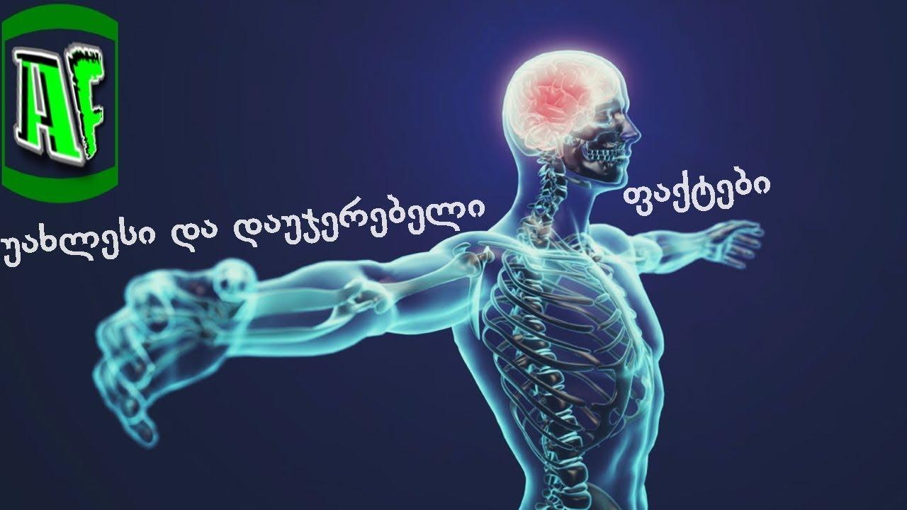 ახალი და დაუჯერებელი ფაქტები ადამიანის ორგანიზმის შესახებ