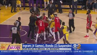 Suspensions, Fines Handed Down In Lakers-Rockets Brawl