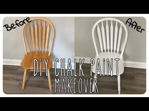 DIY Chalk Paint (For Paint Sprayer) and Chair Makeover
