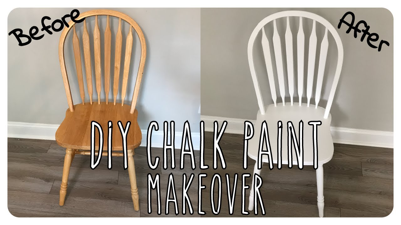 Diy Chalk Paint For Sprayer And Chair Makeover